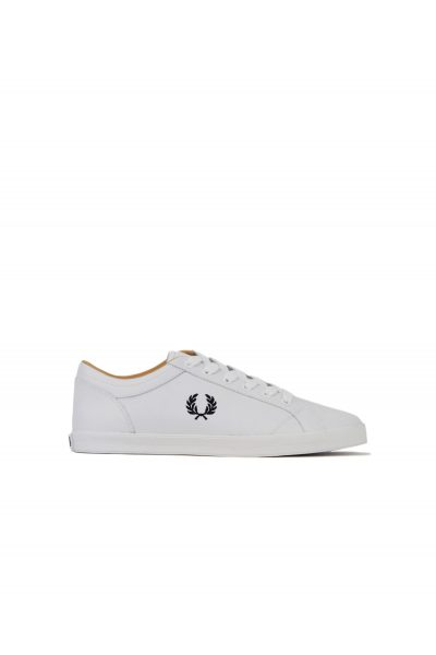 Fred Perry Baseline Leather B6158 100 White 1