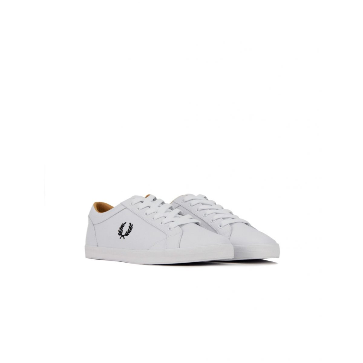 Fred Perry Baseline Leather B6158 100 White 2