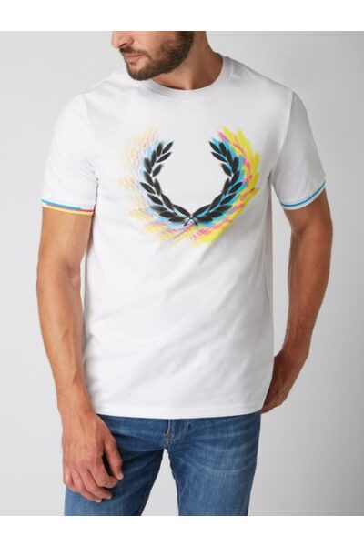 fred perry t shirt mit logo print weiss 40429454e0868450x600f