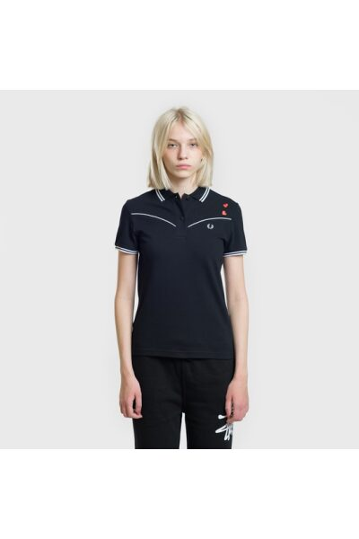 zhenskoe polo fred perry x amy winehouse piped black model 0