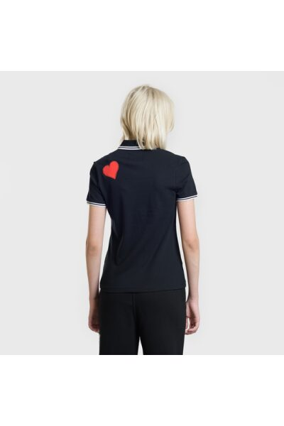 zhenskoe polo fred perry x amy winehouse piped black model 01