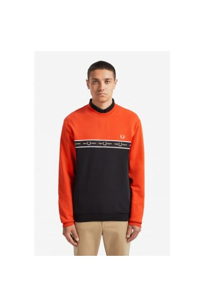 1824745 3 fred perry taped chest sweatshirt s m7524 166 s