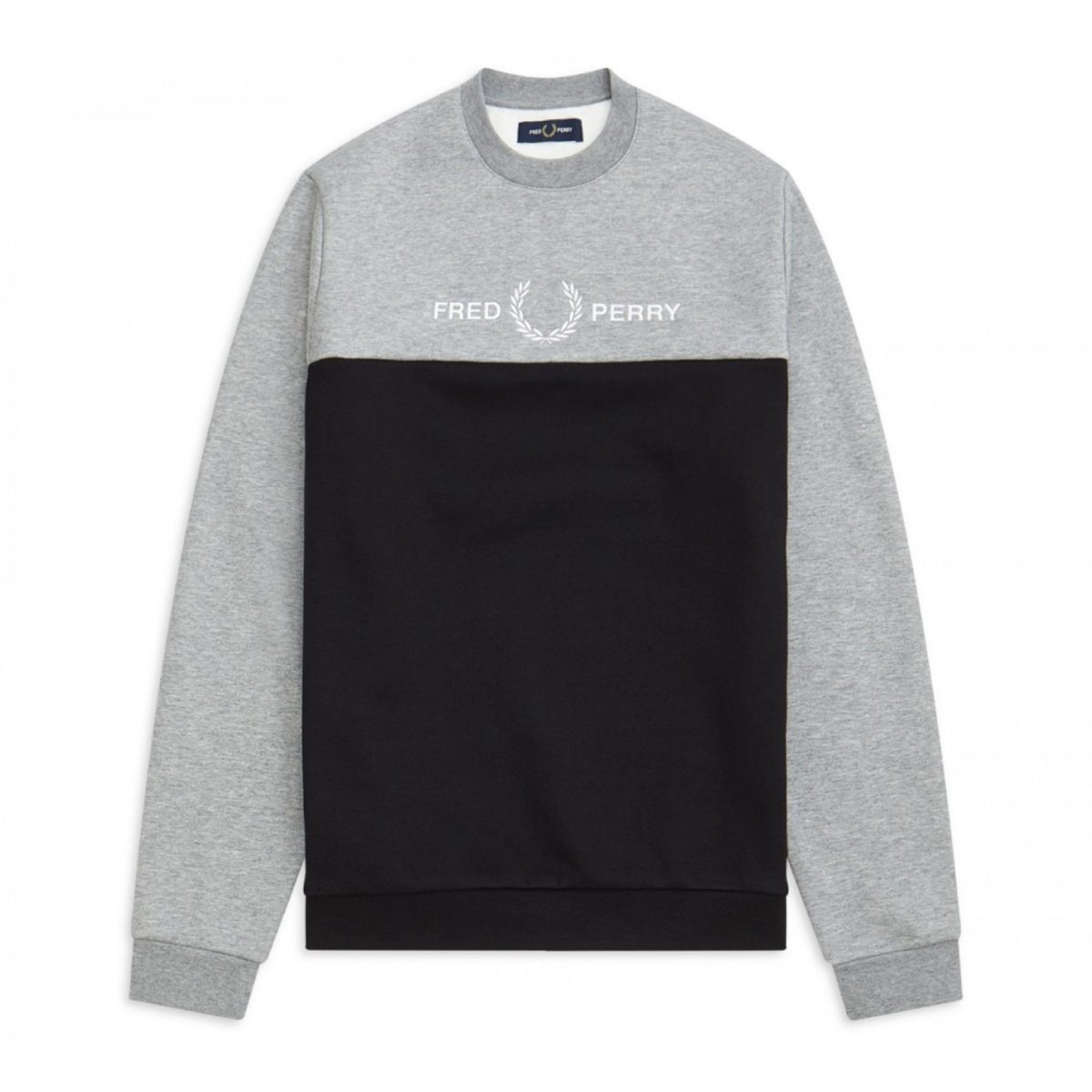 Fred Perry Block Graphic Sweater Heren 1