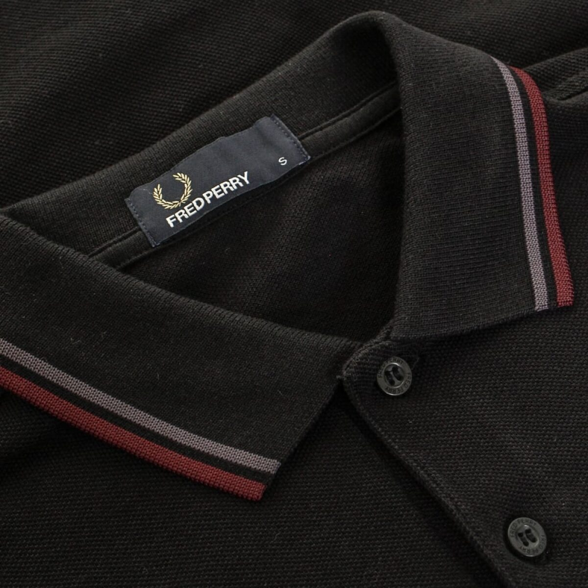 fred perry authentic fred perry twin tipped black ls polo shirt m3636 102 p24818 95664 image