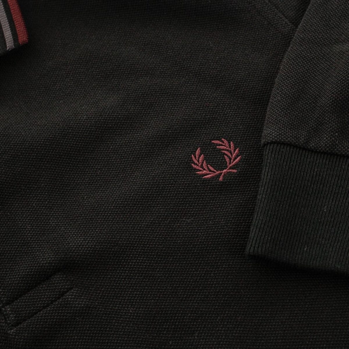 fred perry authentic fred perry twin tipped black ls polo shirt m3636 102 p24818 95665 image