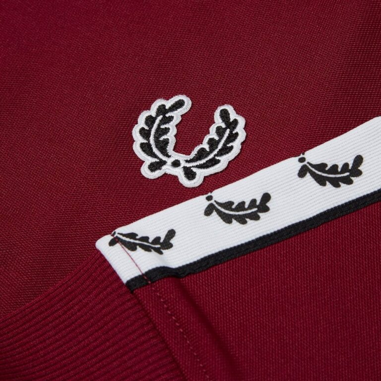 fred perry sports authentic taped track jacket port p4583 14661 image