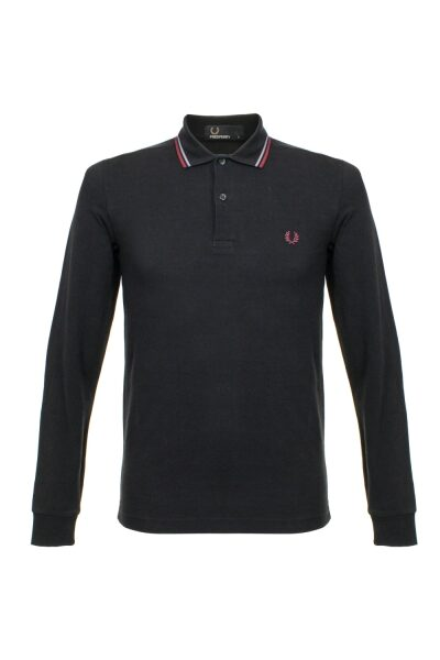fred perry twin tipped black ls polo shirt m3636 102 p24818 95663 image