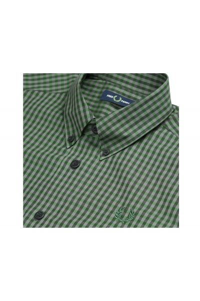 Fred Perry 3 Colour Gingham Shirt M7569 118 3