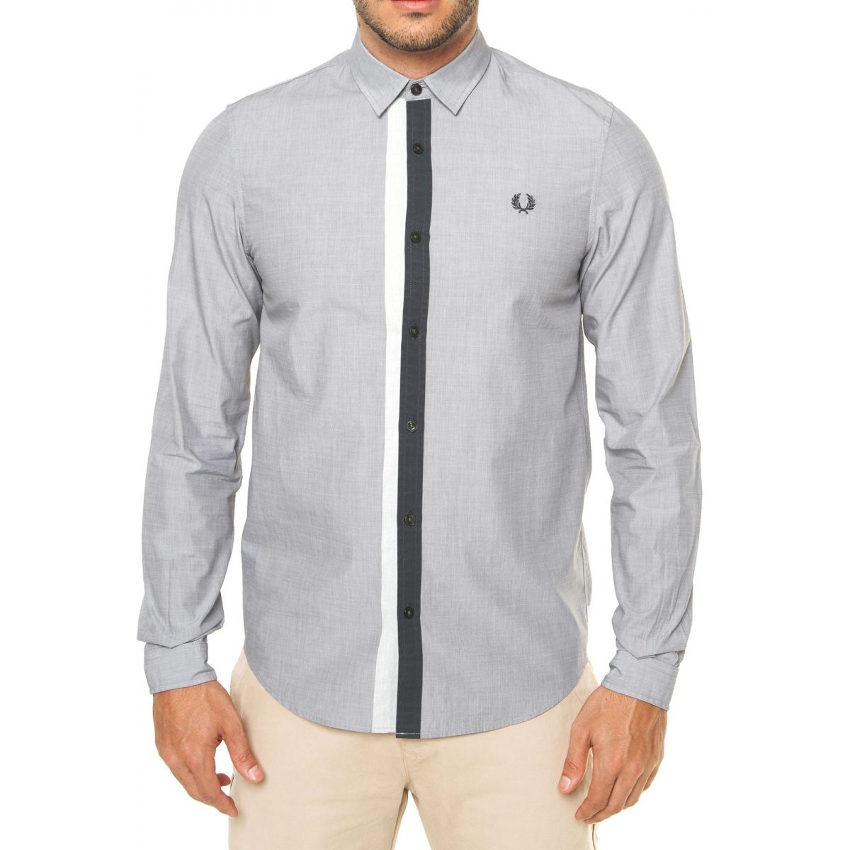 Fred Perry Camisa Fred Perry Placket Cinza 4354 2610961 3 zoom