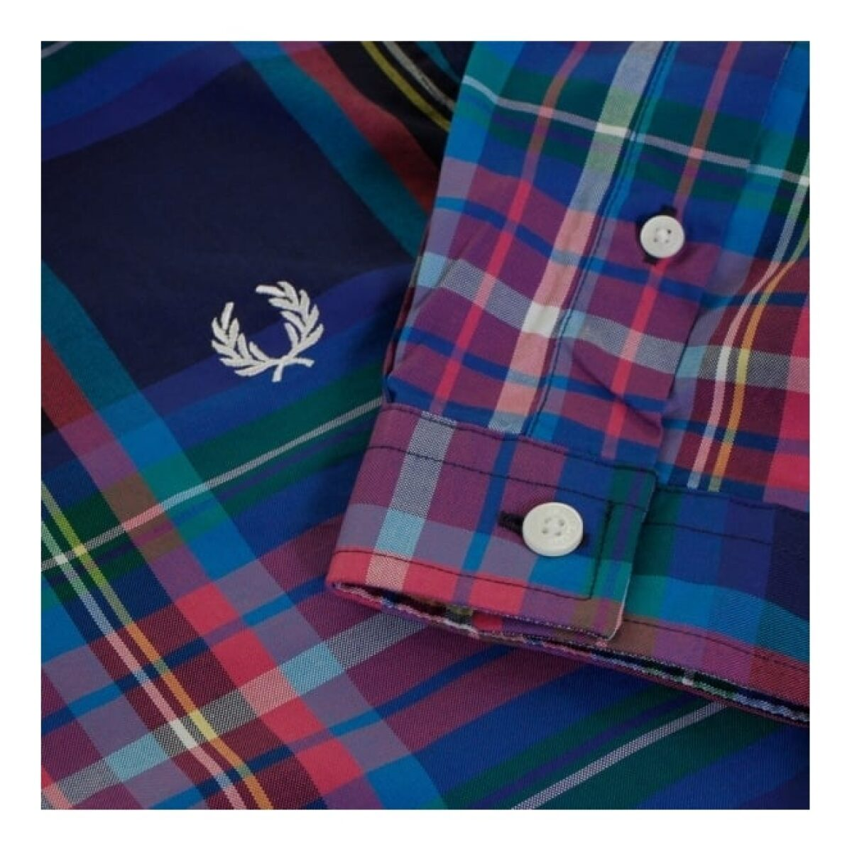 fred perry authentic fred perry bright tartan french navy shirt m9532 143 p23974 90939 medium
