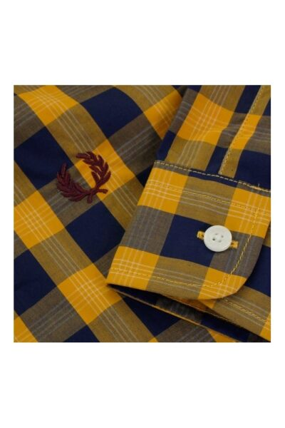 fred perry authentic fred perry tartan gingham mustard shirt m8274 886 p23978 91042 medium