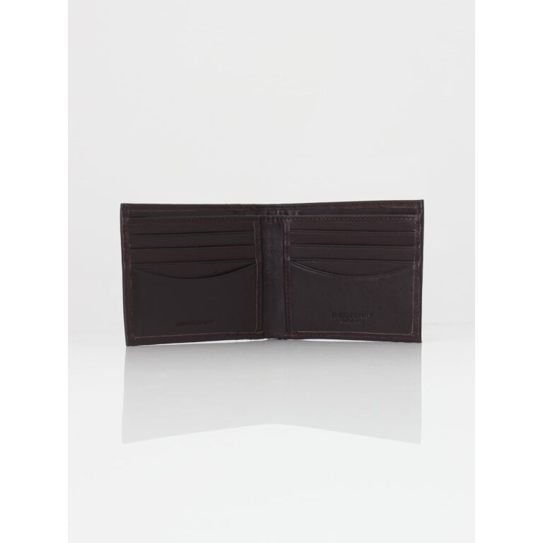 fred perry textured tipped wallet oxblood p32604 503290 image