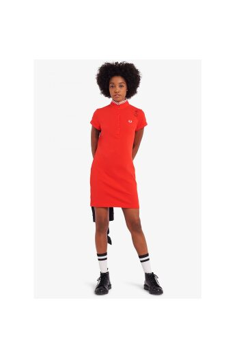 fred perry amy pique dress lipstick red 1 2