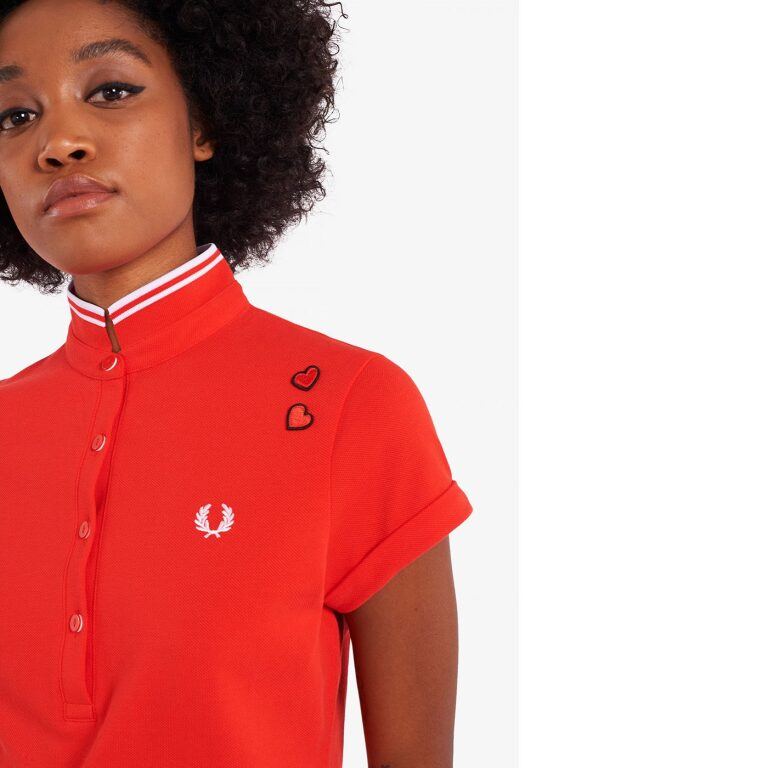 fred perry amy pique dress lipstick red 1 4