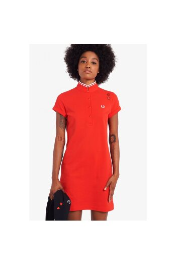 fred perry amy pique dress lipstick red 1 5