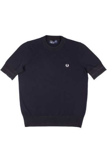 fred perry girl crew neck jumper navy 1