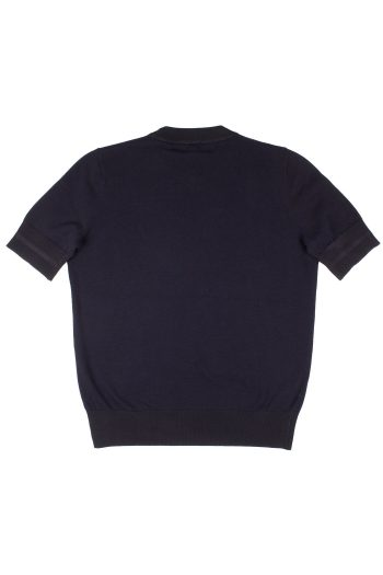 fred perry girl crew neck jumper navy 1 3
