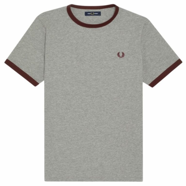 fred perry laped ringer t shirt m3519 b85 2