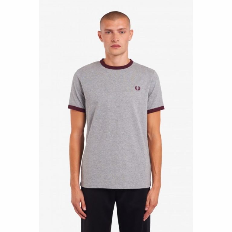 fred perry laped ringer t shirt m3519 b85