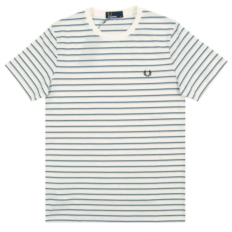 fred perry m5573 fine stripe t shirt snow white p23251 51748 image