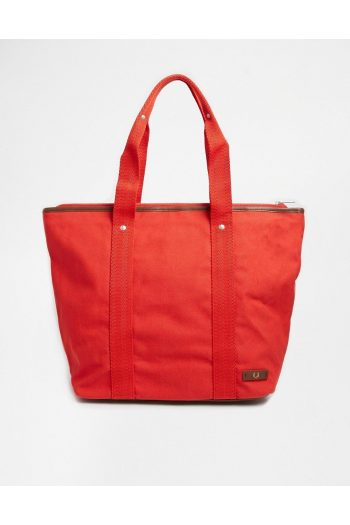 fred perry red canvas tote bag with zip top product 1 27752075 3 590857211 normal