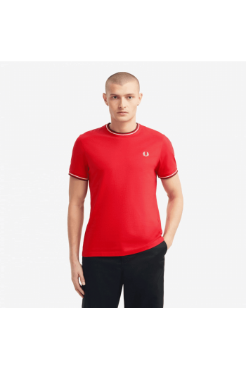 fred perry twin tipped t shirt jester red p11262 27685 image