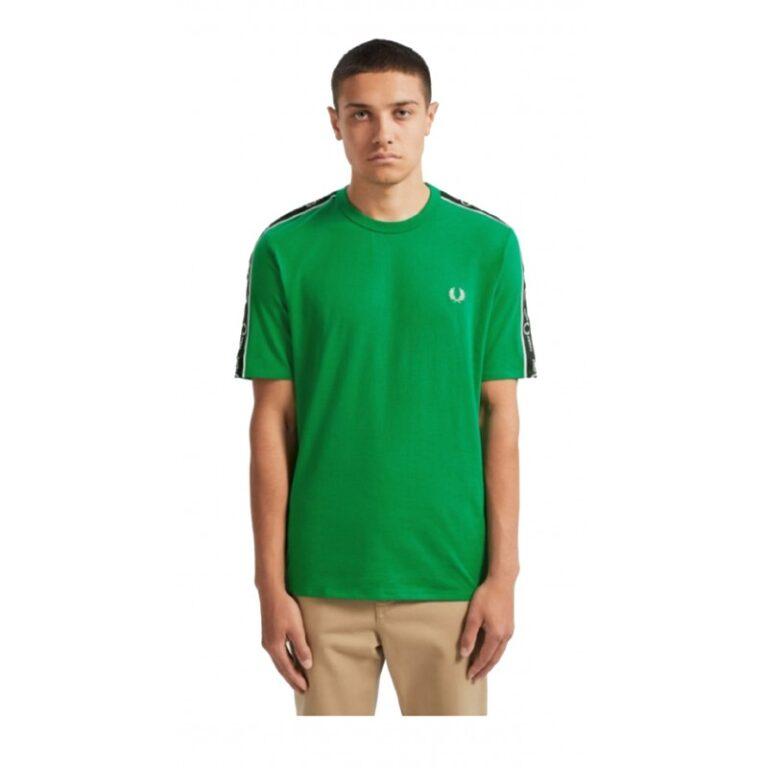 t shirt fred perry uomo m7513 verde ai19 1
