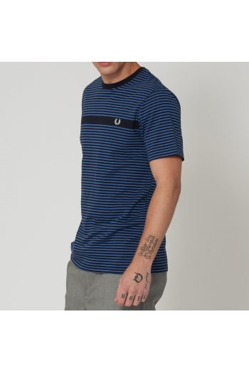 fred perry authentic navy fine stripe t shirt p34156 241464 image