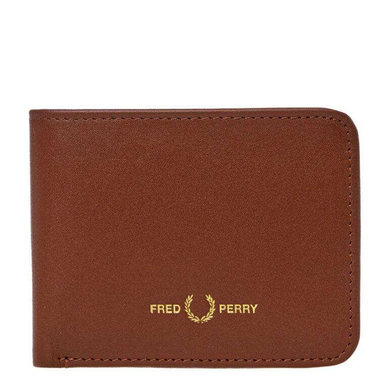 fred perry billfoild wallet tan 22856 01ks