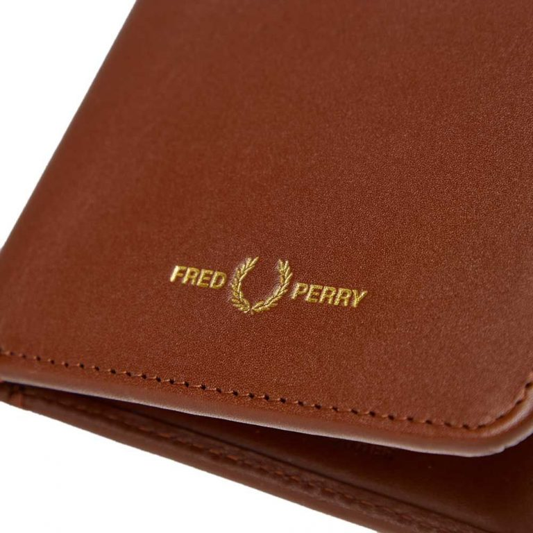 fred perry billfoild wallet tan 22856 04ks 1
