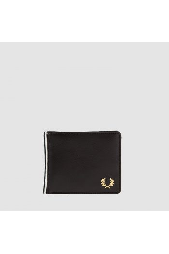 fred perry black flat knit wallet l9260 1